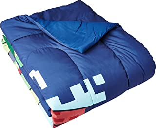 Disney Crossy Road Game On Blue Twin/Full Reversible Comforter with Mickey Mouse, Minnie  Mouse,  Buzz Lightyear, Pluto, Anger, Donald Duck, Woody & Simba