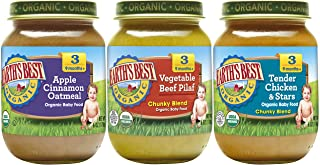 Earth's Best Organic Stage 3 Baby Food, Junior Best Sellers Variety Pack, 6 oz. (12 Count)