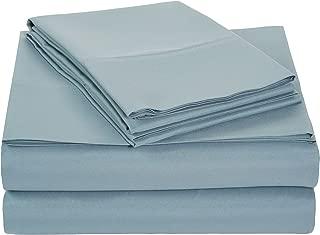 AmazonBasics Light-Weight Microfiber Sheet Set - Full, Spa Blue