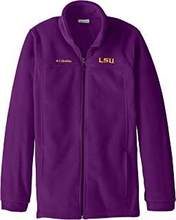 NCAA LSU Tigers Youth Boys Collegiate Flanker Full Zip Fleece, Vivid Purple