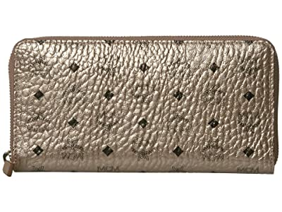 MCM Visetos Original Zipped Wallet Large (New Champagne Gold) Handbags