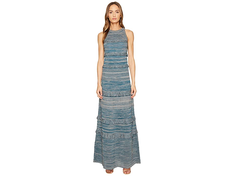 M Missoni Lurex Mouline Maxi Dress (Teal) Women