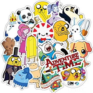 Stickers 50pcs Adventure Time Car Laptop Helmet Luggage Vintage Skateboard Wall Decor Gift for Kids (C52-25)