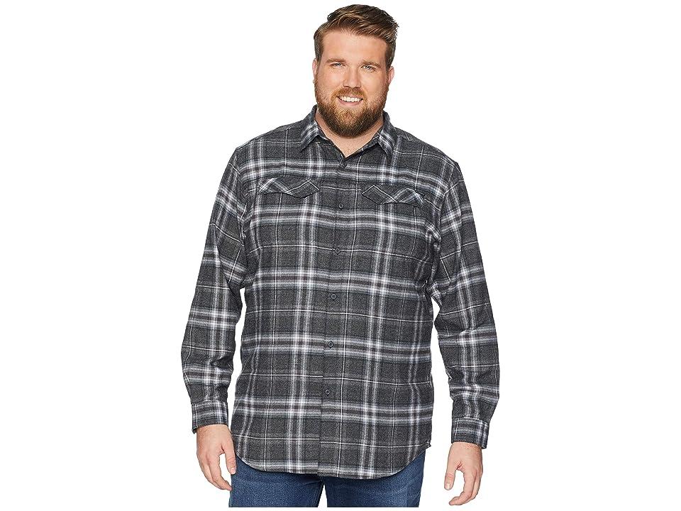 Columbia Big Tall Silver Ridgetm Flannel Long Sleeve Shirt (Black Plaid) Men