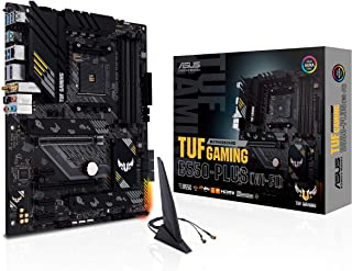 ASUS TUF Gaming B550-PLUS WiFi AMD AM4 Zen 3 Ryzen 5000 & 3rd Gen Ryzen ATX Gaming Motherboard (PCIe 4.0, WiFi 6, 2.5Gb LA...