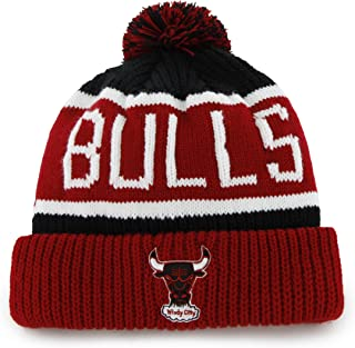 NBA Chicago Bulls Men's Calgary Knit Cuff Cap, One-Size, Black