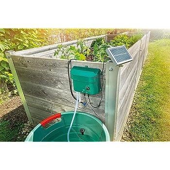 Esotec 101100 Kit complet d'arrosage/Système d'irrigation solaire complet avec 15 goutte-à-goutte