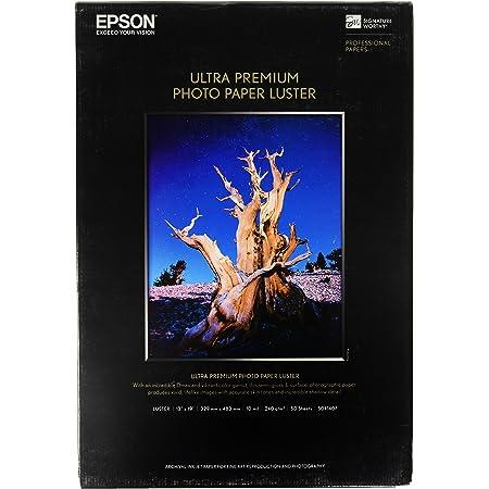 Epson Ultra Premium Photo Paper LUSTER (13x19 Inches, 50 Sheets) (S041407),White