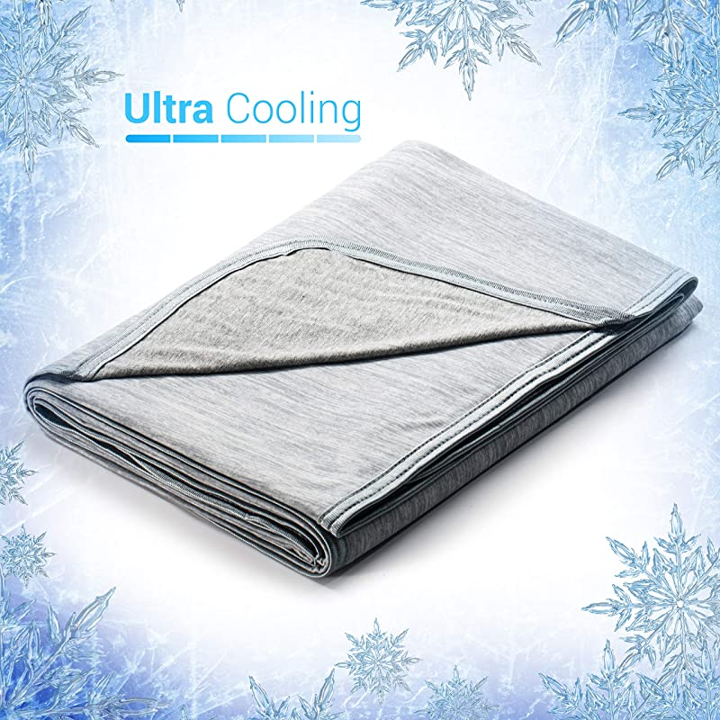 Revolutionary Cooling Blanket Absorbs Body Heat To Keep Adults Children Babies Cool On Warm Nights Japanese Q Max 0 4 Cooling Fiber 100 Cotton Backing Breathable Comfortable Hypo Allergenic