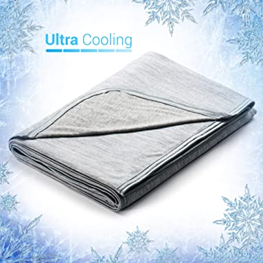 Elegear Revolutionary Cooling Blanket Absorbs Heat to Keep Adults, Children, Babies Cool on Warm Nights. Japanese Q-Max 0.4 Cooling Fiber, 100% Cotton Backing. Breathable, Comfortable, Hypo-Allergenic