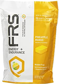 FRS Healthy Energy All Natural Soft Chews, Pineapple Mango, 30 Count