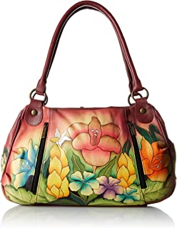 Women's Genuine Leather Ruched Hobo Shoulder Bag - Original Artwork