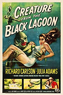 American Gift Services Creature from The Black Lagoon Vintage Movie Poster 24x36 inches