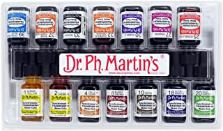 Dr. Ph. Martin's Watercolor Set, SYNC05OZARTS, Assorted Colors, 0.5 oz