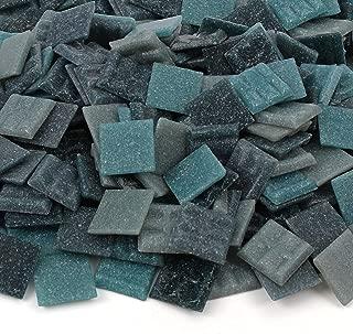 Milltown Merchants™ Dark Blue Mosaic Tiles - Bulk Mosaic Tile Assortment - 3/4 Inch (20mm) Mixed Colors Venetian Glass Tile - 3 Pound (48 oz) Craft and Backsplash Tile
