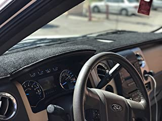 Angry Elephant Black Carpet Dashboard Cover- FITS 2009-2014 Ford F-150 All Models. Custom Fit Dash Cover, Easy Installation.