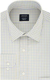 "Arrow Men's Dress Shirt Regular Fit Stretch Check, Sun 17""-17.5"" Neck 32""-33"" Sleeve (X-Large)"