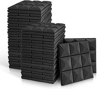 """Paneles de espuma acústica de 2"""" x 12"""" x 12"""", 24 Packs"""