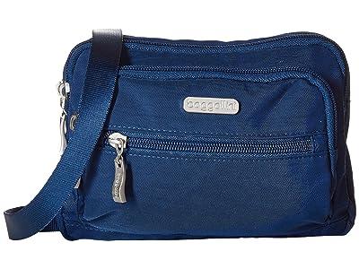 Baggallini Legacy Triple Zip Bagg (Pacific) Cross Body Handbags