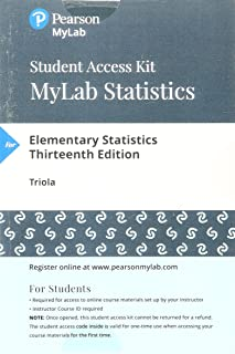 Mylab Statistics with Pearson Etext -- Standalone Access Card -- For Elementary Statistics