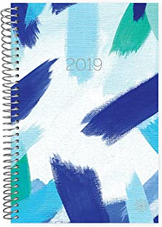 """bloom daily planners 2019 Calendar Year Day Planner - Passion/Goal Organizer - Monthly and Weekly Dated Agenda Book - (January 2019 - December 2019) - 6"""" x 8.25"""" - Blue Strokes"""
