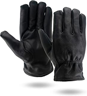 Illinois Glove Company 93 Water Repellent Grain Cowhide Lined Gloves, Black