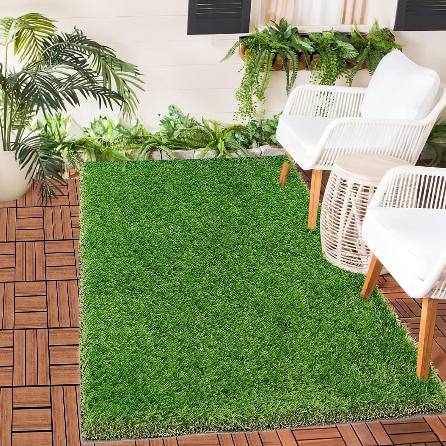 Canodoky Patio Rug 3 New arrival x 5 Rugs Ft Artificial Outdoor Grass Austin Mall Turf