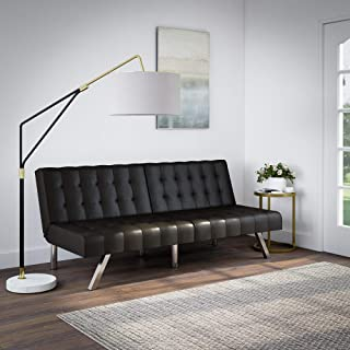 Best mainstays faux leather tufted convertible futon Reviews
