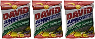 David Sunflower Jumbo Seeds Reduced Sodium 5.25 Ounce (Pack of 3)