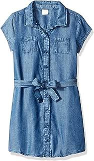 Gymboree Big Girls' Short Sleeve Casual Belted Woven Dress