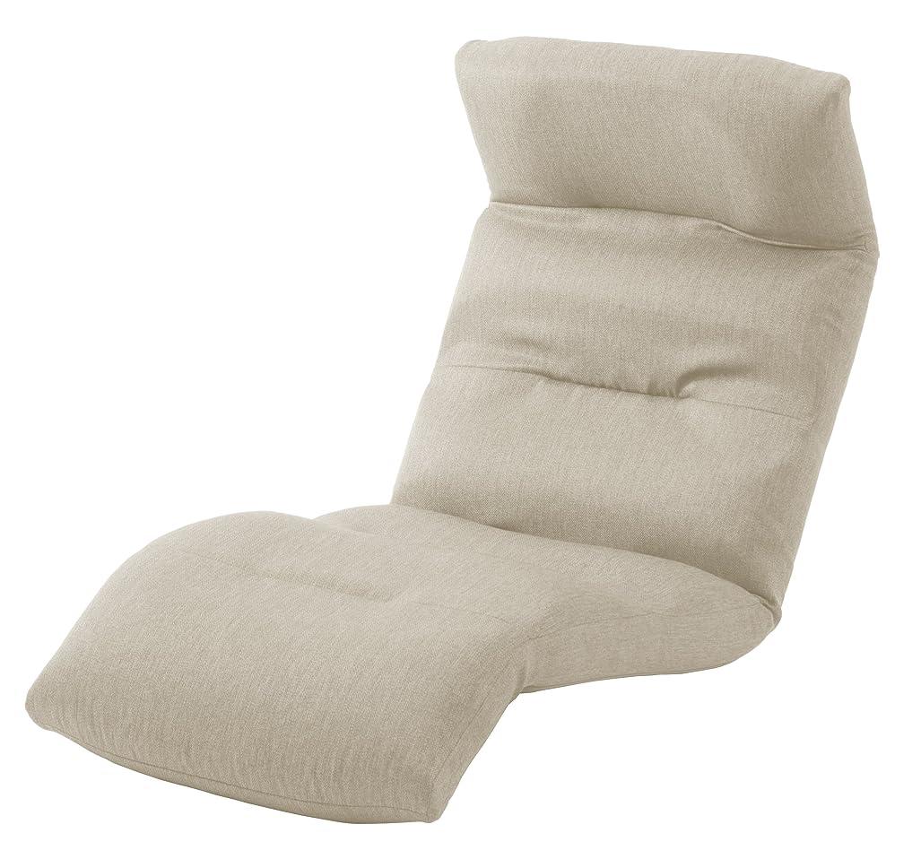 無法者水分ジョットディボンドンセルタン 座椅子 和楽の雲 下タイプ ダリアンベージュ 頭部脚部リクライニング 日本製 A193下R-560BE