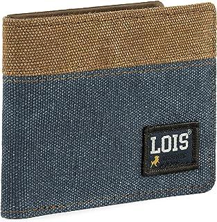 Lois - Cartera de Hombre Joven. Billetero con Monedero Juvenil. Protección antirrobo RFID 203701, Color Azul
