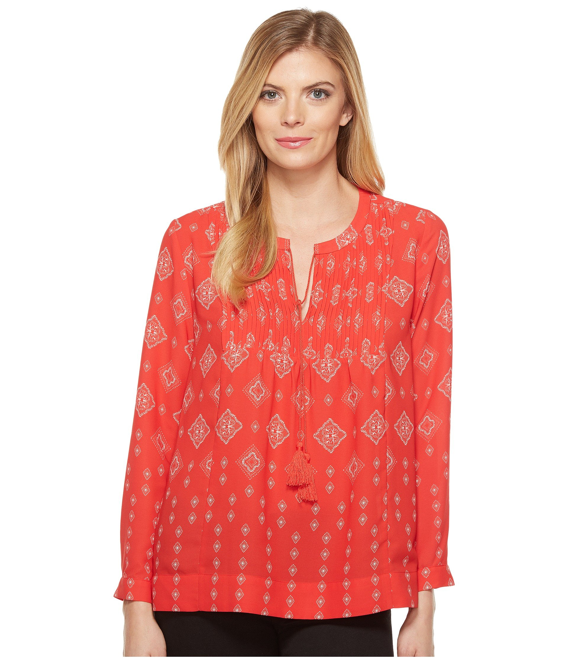 Bandana Print Blouse, Countryside Kerchief Haute Rough