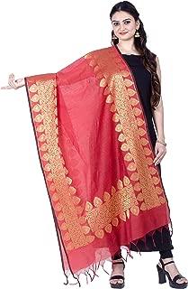 Women's Handwoven Zari Work Indian Ethnic Banarasi Dupatta Stole Scarf(D118)