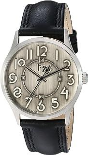 Bulova 96A147 Reloj de vestir de cuarzo para hombre, latón y piel, color negro