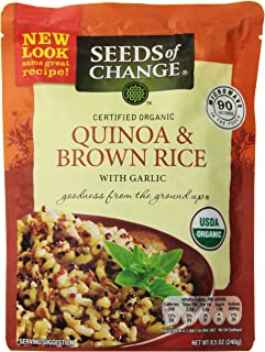 Seeds of Change Quinoa & Brown Rice with garlic, 8.5 oz (Pack of 6)