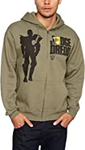 Judge Dredd Silhouette New Official Men Zipped Hoodie [Apparel] Green
