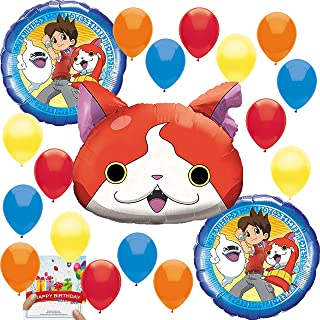 Yokai Watch Party Supplies Birthday Jibanyan Balloon Decoration Bundle Bouquet