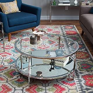 Belham Living Lamont Round Coffee Table - Chrome Belham Living Lamont Round Coffee Table - Chrome