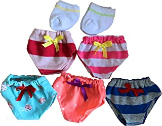 Brynhildr 7 Pack 15-18 inch Doll Underwear & Socks Set(elastic woven material)