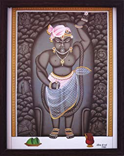 Handicraft Store Lord Shrinath, Lord of Sri Nathdwara Temple, a Decorative Religious Poster with Frame, It's Good Gift to Give Someone to Any Occasion.