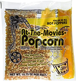 At-The-Movies Popcorn & Coconut Oil Portion Packs-Case of 24 (8oz Kettle)