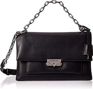 Michael Kors 30S9S0EL3L-001 Cece Large Leather Shoulder Bag, Black