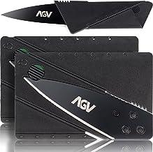 2-Pack AGV Navaja de Cartera Tarjeta de Crédito | Navaja de Bolsillo para Supervivencia | Navaja Multiusos | Cuchillo Táct...