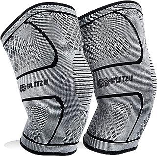 BLITZU Knee Compression Sleeve for Men & Women – Best Knee Brace Support for..