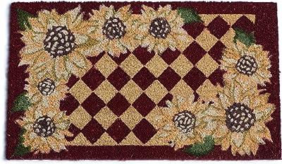 DII Sunflower Check Doormat