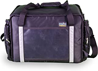 Insular Therma Foldable Extra Wide Meal Delivery Bag - Black | 30 litres | Insulated Commercial Grade Premium Bag for hot Food delivery | Water & Stain Repellent | Foldable | Ideal for Large Orders