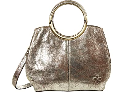 Patricia Nash Aria Satchel (Chocolate Metallic) Handbags
