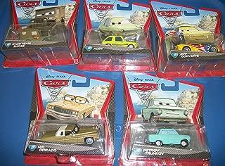 5 Piece Set Pixar Cars/Mel Dorado.Acer/ Race Team Sarge/Petrov Truckov/Jeff Corvette