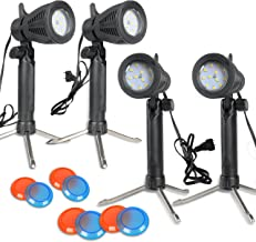 Slow Dolphin Photography Continuous 48 LED Portable Light Lamp for Table Top Photo Studio with Color Filters-4 Sets